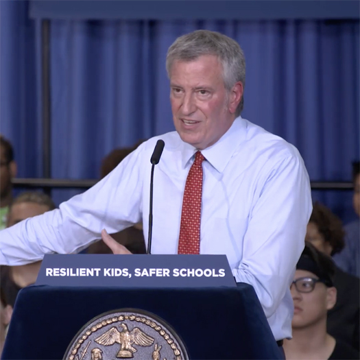 Bill De Blasio, Mayor, New York City, New York